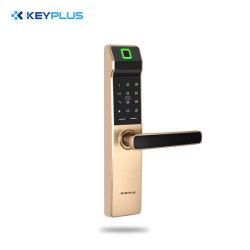 Fechadura da porta de impressão digital biométrico eletrônico do fecho da fechadura de porta Digital Fingerprint + Senha Cartões ++ teclas mecânicas para Home