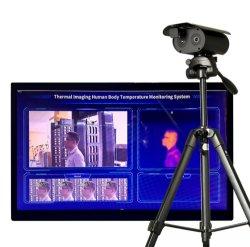 Перед лицом признание тепловой обработки изображений камеры измерение температуры тела