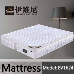 Espuma de látex natural real Dobrar cama de casal com colchão de molas de bolso com tampa de tecido de veludo branco