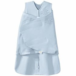 Toddler enfants dorment Sac 100% coton Swaddle, Swaddle Vêtements bébé enfant bleu
