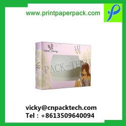 Excellente qualité sur mesure le commerce de détail Emballage Papier de cadeau à l'emballage emballage de vente au détail Food Box Boîte à gâteau avec fenêtre d'affichage