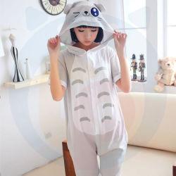 Caricature d'animaux de haute qualité en une seule pièce pyjama en coton