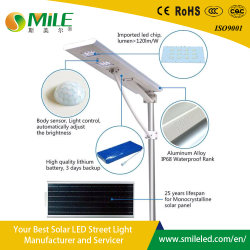 LED integrado 120W tudo numa rua Solar Light