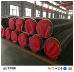 Подземный тепловой изоляции стальные трубы из пеноматериала Withpolyurethane и HDPE чехол для охлаждения воды нефти проекта