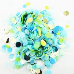Wholesale Bluk decoración personalizada de parte del círculo de la bolsa de tejido de lámina metálica de papel Biodegradable boda confeti
