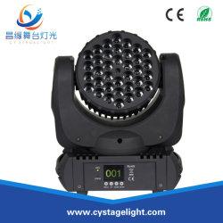 ضوء مرحلة الغسيل برأس متحرك ذو إضاءة LED 36X3w عالي القدرة