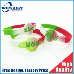 El deporte de alta calidad Logotipo personalizado pulsera de silicona caucho impreso RFID Smart Watch Mosquito USB impresos troquelados pulsera de silicona