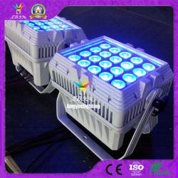 DMX Iluminación de escenarios al aire libre de 20x12W RGBW 4en1 LED PAR plana