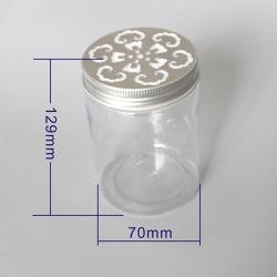 300ml 300g PET transparent avec couvercle creux Jar Jar alimentaires vides PET