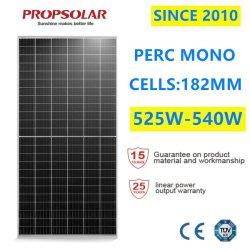 Une qualité digne de confiance Perc 540W monocristallin photovoltaïque de cellules solaires photovoltaïques Modules du panneau d'énergie pour la vente avec le meilleur prix