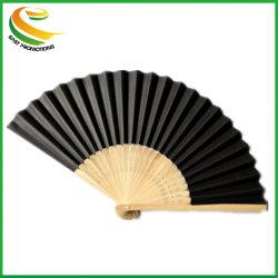 De Mano de promoción de papel plegado ventilador con la nervadura de bambú