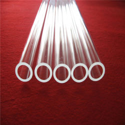Resistente ao calor personalizado de sílica fundida polaco clara Tubo de vidro de quartzo