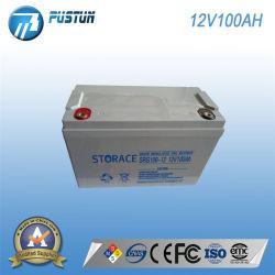 太陽ライトのためのPustun 12V100ah SLA VRLAの深サイクルの長い生命デザイン蓄電池