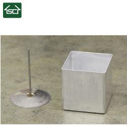 正方形の柱の灯心Pinのアルミニウム蝋燭型