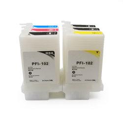 Ocbestjet 130ml/104 PC pour Canon PFI PFI 102 Cartouche d'encre de recharge pour Canon IPF700 Ipf 650 655 750 755 760 765 Imprimante