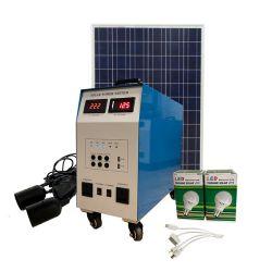 Sistema solar de 2kw Precio todos en un sistema Solar construido en el controlador, el inversor, batería