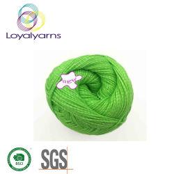 Mit der Hand stricken des Baumwoll-/Polyester-Garns für Häkelarbeit Ly-C024
