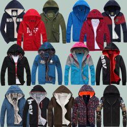 Mélanger la couleur de la mode pour hommes Zipper Hoodie Stock (H19-12)