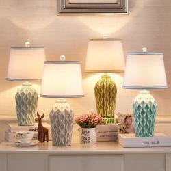 Lámparas de mesa LED cerámica Dormitorio Lámpara de noche la lámpara de mesa de mármol de los países nórdicos (WH-MTB-53)