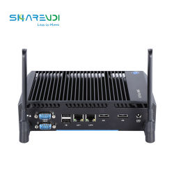 중국 공급업체 산업용 컴퓨터 팬리스 미니 PC 코어 i3 i5 Tpm2.0 GPIO를 지원합니다