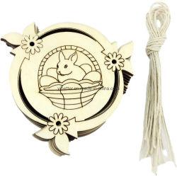 Madeira personalizado ornamentos de Páscoa Bunny enfeites