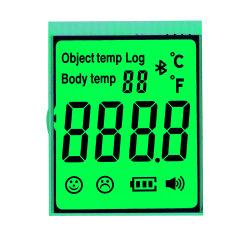 이마 온도계에 의하여 사용되는 녹색 역광선 Tn Transfrective LCD 스크린