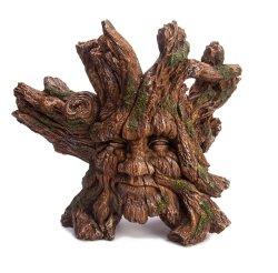 Handgemachte dekorative Polyresin künstliche Wurzel, die Monster-Gesichts-Dekor schnitzt