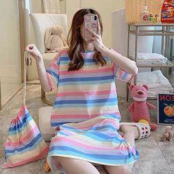 Cotone 100% delle donne singola Jersey con gli abiti stampati Allover di notte