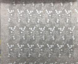 Hot Fashion broderie de maille 100% lin Tissu Tissu pour rideaux