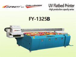 Пластиковый ПВХ из натуральной кожи футболка флис 1300*2500 мм планшетный УФ принтер Fy-1325b с Seiko SPT1020 печатающей головки