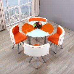 América Venda quente mobiliário de sala de jantar de vidro mobiliário topo conjuntos de mesa com alta qualidade