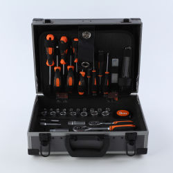 "110PCS، 1/4 بوصة، د. &3/8""مجموعة أدوات الإصلاح اليدوية من شركة Industrial Grade Mechanic، من الفولاذ الكربوني مع المعالجة الحرارية"