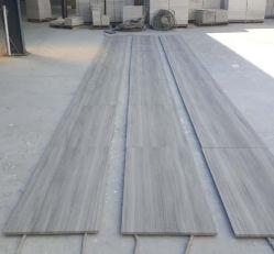 Le mur de marbre gris sergé chevron de bois-de-chaussée