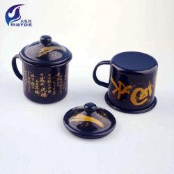サービス品の昇進のコピーの陶磁器のコップのレトロの引用語句のカスタムロゴの印刷を広告する型の金属のノスタルジアのエナメルの茶瓶