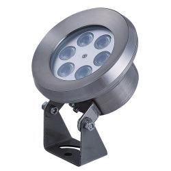 Ahorro de energía de baja potencia exterior Carcasa de acero inoxidable IP68 Resistente al agua fuente de luz LED RGB