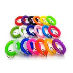 Commerce de gros EVA Spire de ressort en plastique cordon téléphonique bracelet en plastique de l'anneau de clé
