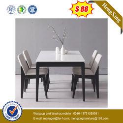 Moderno mobiliário residencial simples conjunto de mesa de madeira mesa de jantar com cadeira