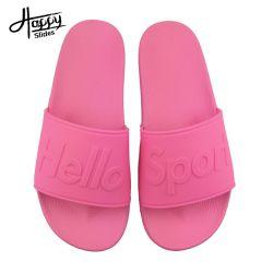 Los diseñadores zapatillas Logotipo personalizado señoras sandalias de diapositiva, la Moda Mujer sandalias de diapositivas personalizadas, Señoras sandalias de diapositivas de caucho rosa