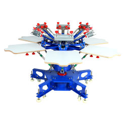 Rotierender Silk Bildschirm-Drucken-Maschinen-manueller Silk Bildschirm-Drucker