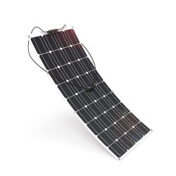 Módulo Solar semi-flexible 20W 80W 100W 120W Potencia solar flexible ETFE Solar Panel Fabricante techo células solares