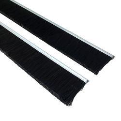 Spazzola di alluminio del sigillo alla porta della parte inferiore del portello del supporto della setola di nylon