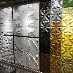 بناء مادة تزيين لوحة الحائط البلاستيكية ثلاثية الأبعاد بالألواح البلاستيكية ذات السقف الزخرفي المصنوعة من مادة PVC