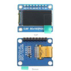 Baugruppen-Bildschirm 0.96 Zoll-80*160 Spi SerienSpi LCM mit vollem Betrachtungs-Winkel und Schaltkarte-Vorstand