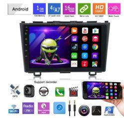 9 pulgadas de pantalla grande, llamada Bluetooth GPS de coche con reproductor de MP3 MP4 MP5 Player para Honda CRV 2007-2011