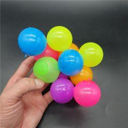 아이 천장 싱숭생숭함에 스티키 공 던짐을%s 2021년 Tiktok 최신 작풍 4.5cm TPR 연약한 스티키 벽 표적 공 Anti-Stress 장난감은 빛난 감압 공을