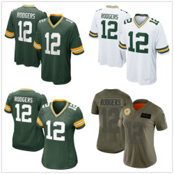 Homens Mulheres Aaron Rodgers Football Jersey