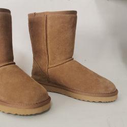حذاء النسائية WOWOL Fur المقاوم للماء حذاء الكاحل