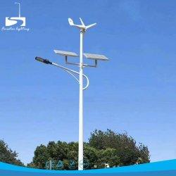 6mの水平の風の太陽ハイブリッドLEDランプシステム