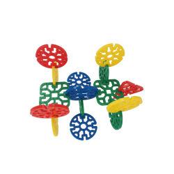 Kleine Zapfen-Han anschließenblöcke der Kind-pädagogische Spielwaren-145PCS 4colors 6cm