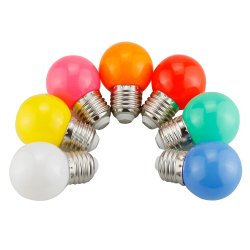 Lampadine a LED a colori per 1W 2W 3W 4W 5W G45 E27 B22 Red Blue Green Yellow White Color per Festival Christmas Decorative